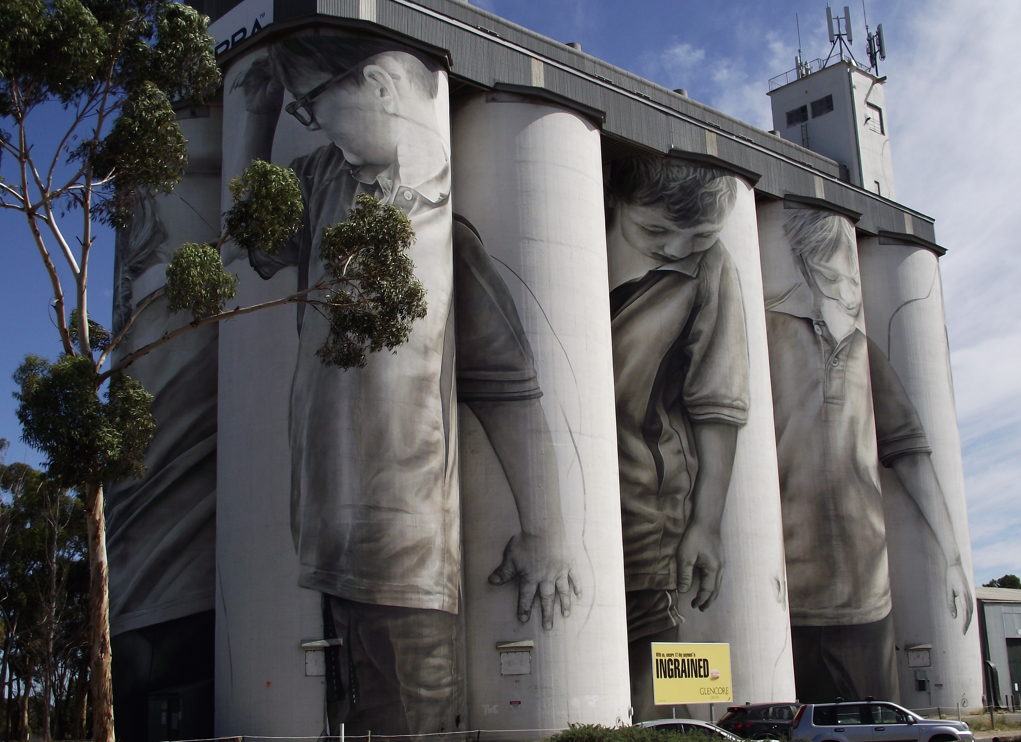 grain silo murals put coonalpyn on the arts map