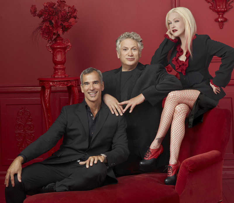 Kinky Boots, Jerry Mitchell, Harvey Fierstein and Cyndi Lauper