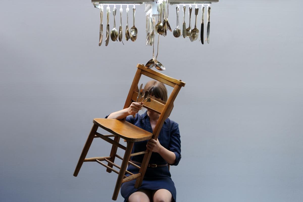 Leah Scholes in Kate Nea's Never Tilt Your Chair