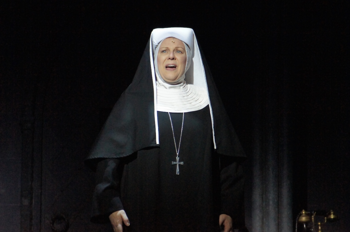 Jacqueline Dark as the Mother Abbess