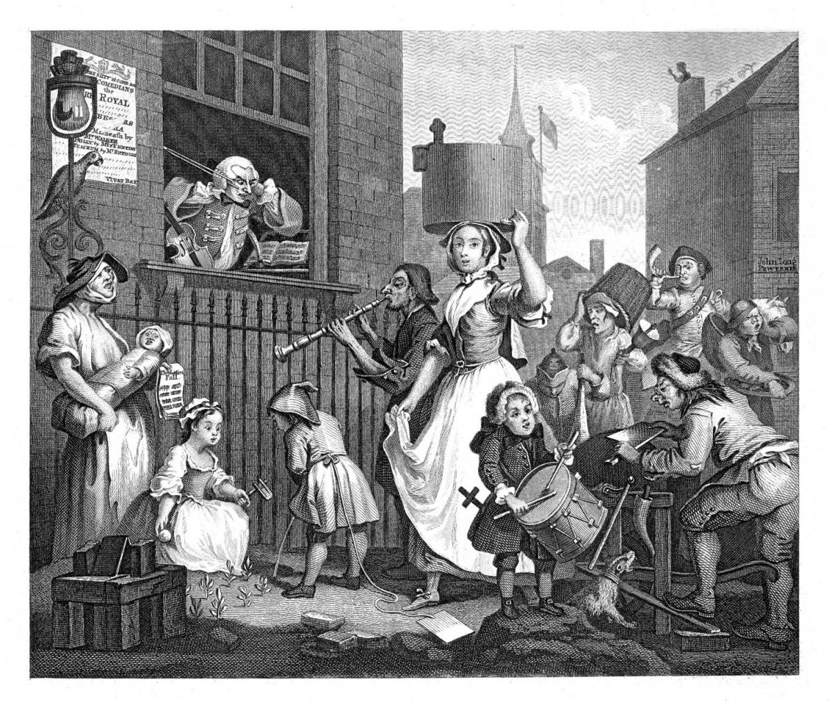The Enraged Musician, Hogarth