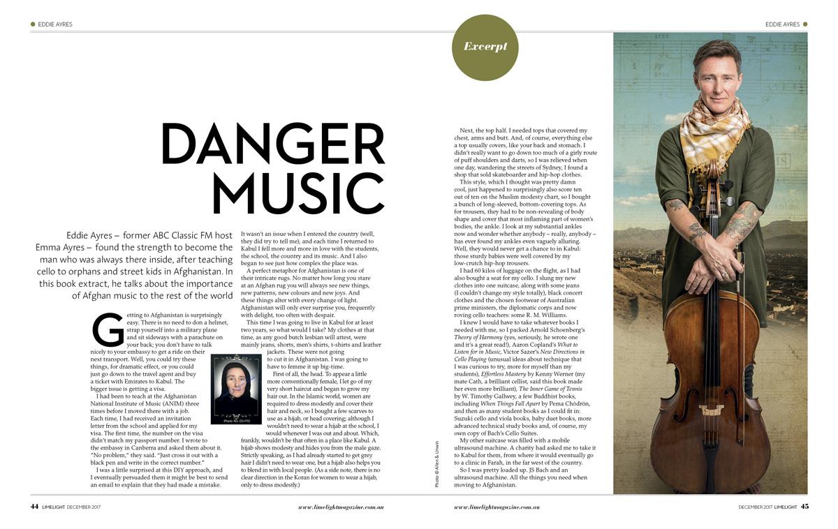 Limelight Magazine: Eddie Ayres
