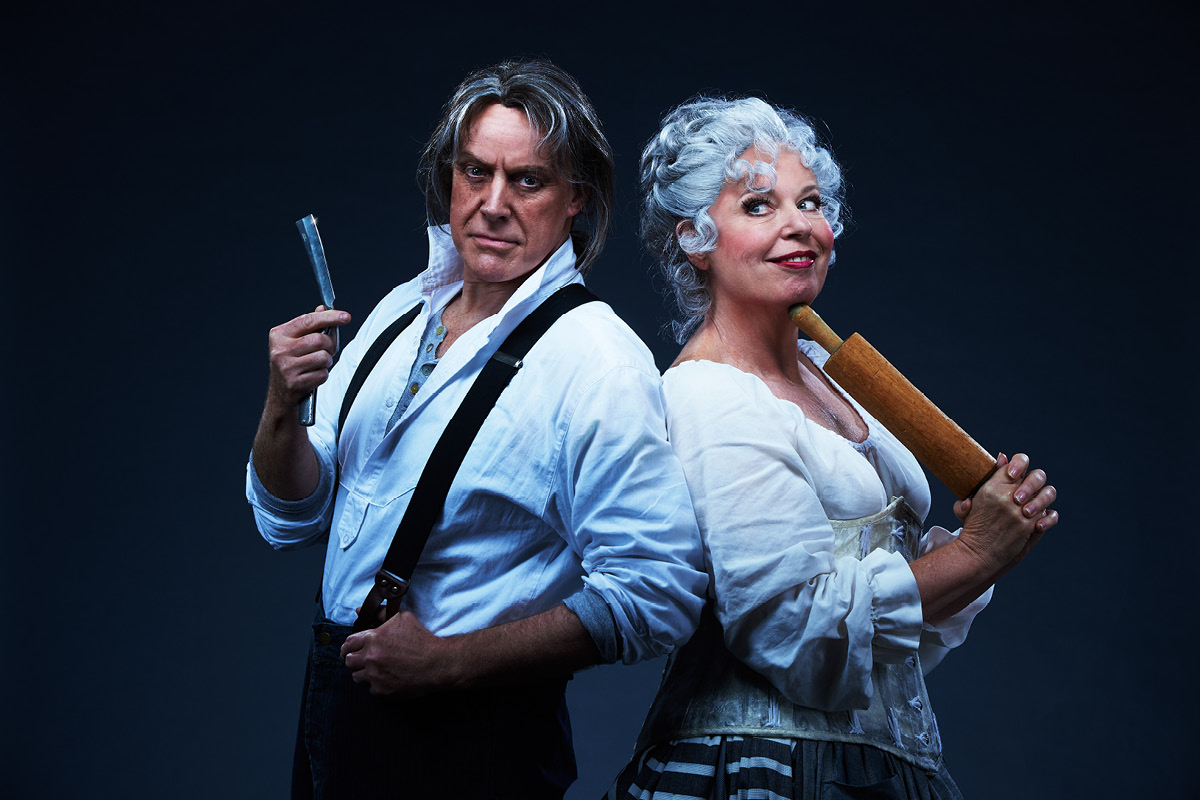 Anthony Warlow and Gina Riley in Sweeney Todd