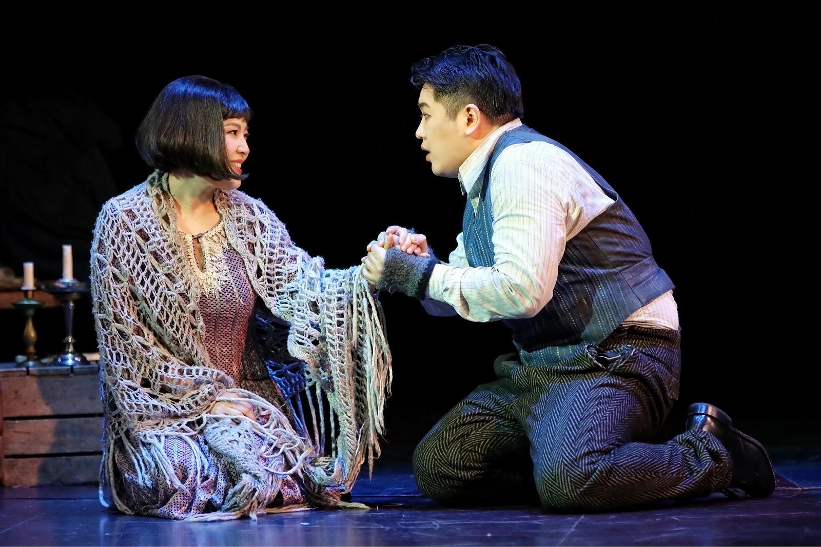 Karah Son and Kang Wang in Opera Australia's La Boheme