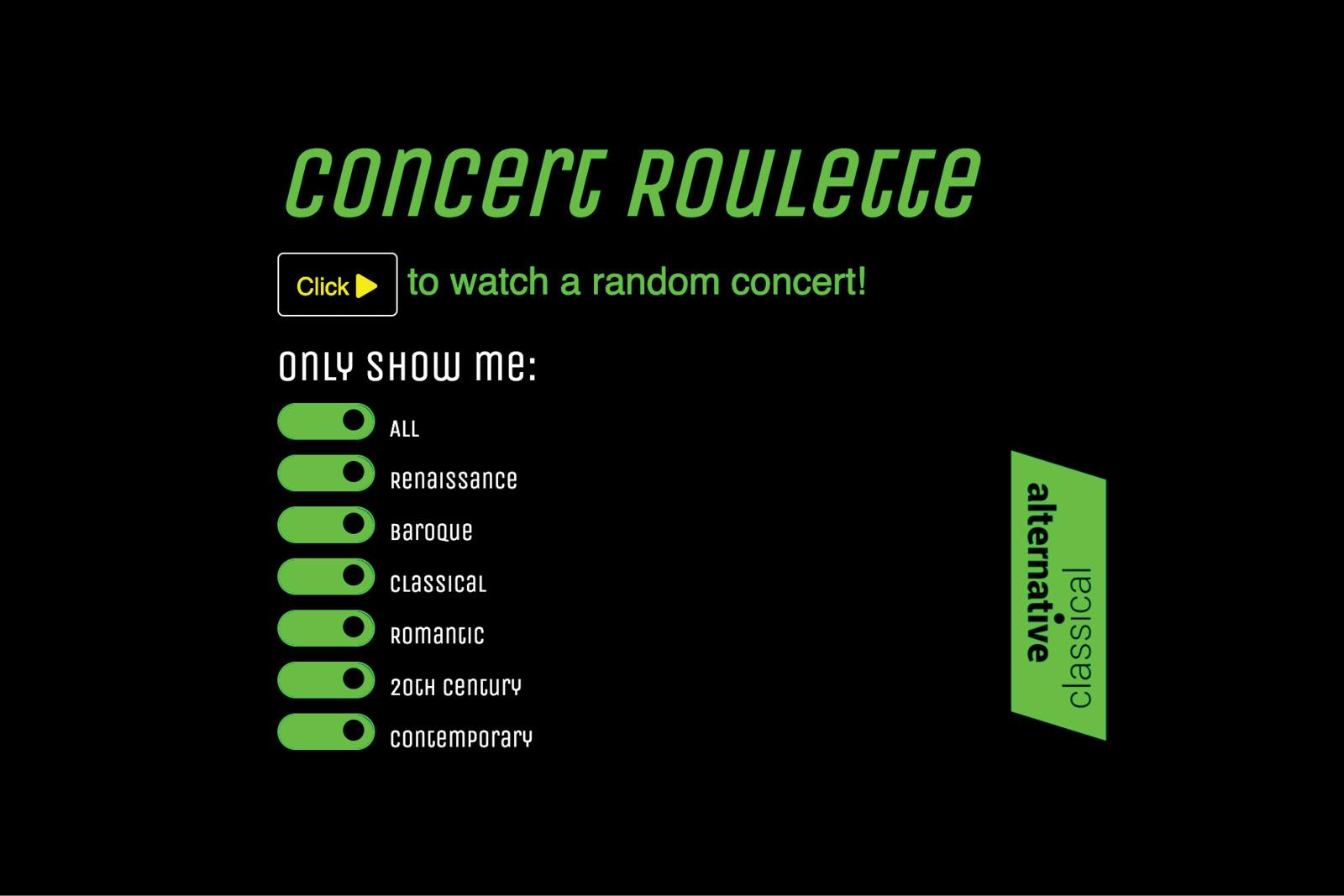 Concert Roulette