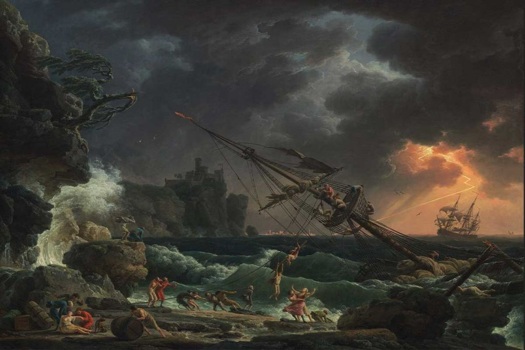 The Shipwreck, 1772, by Claude Joseph Vernet. Image: Wikimedia Commons
