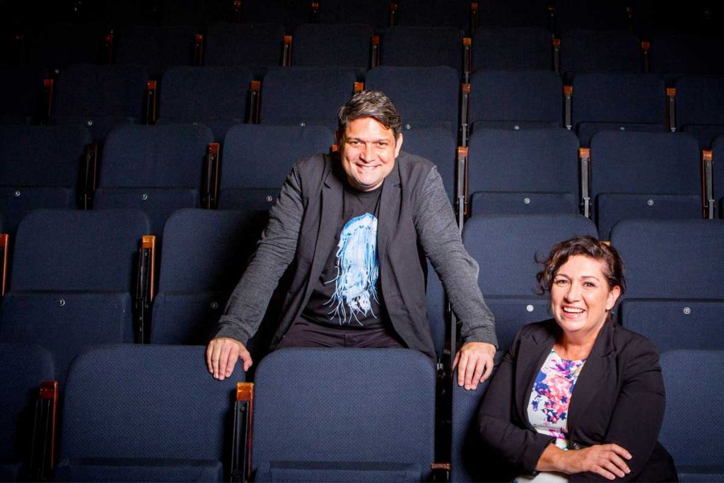 Wesley Enoch and his sister Leeanne Enoch
