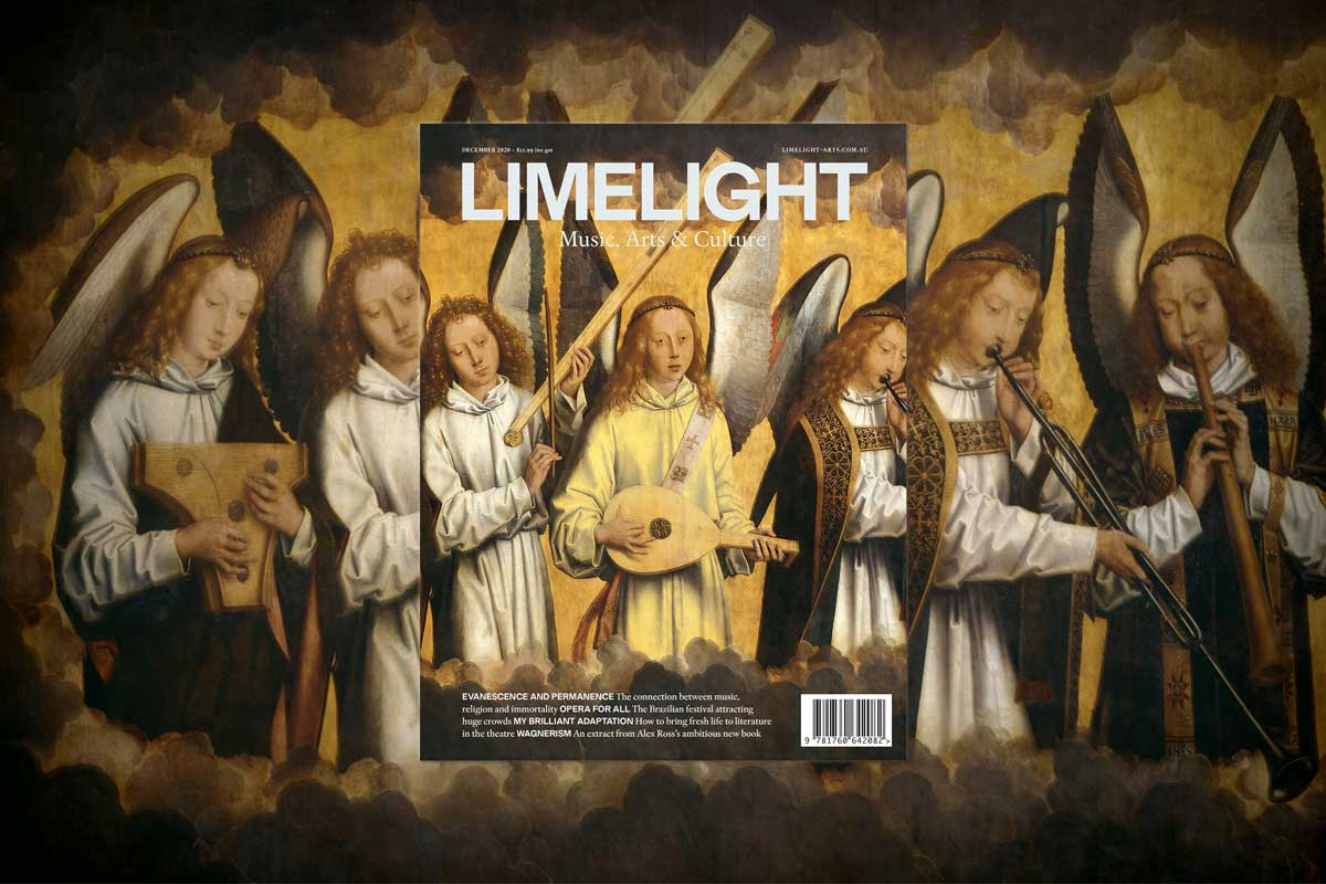 The cover of Limelight's December 2020 magazine