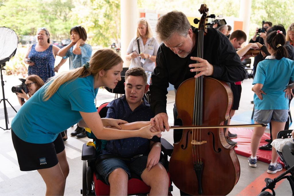 Queensland Symphony Orchestra at Narbethong State Special School for We're Sharing the Joy