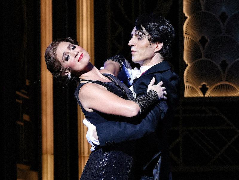 Julie Lea Goodwin and Alexander Lewis in Opera Australia's The Merry Widow.