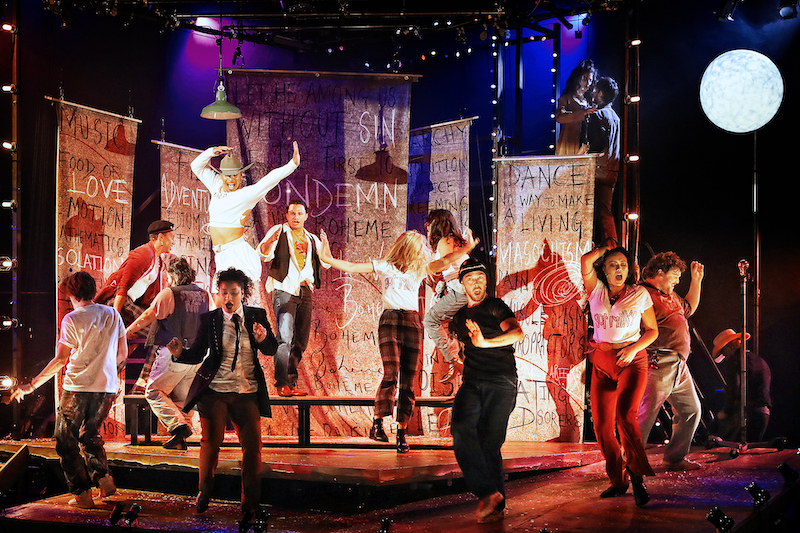 The cast of Rent at Sydney Opera House