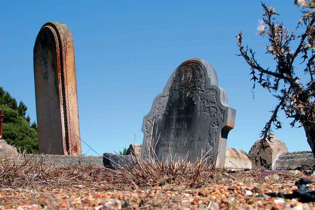 A graveyard in Robertson, NSW