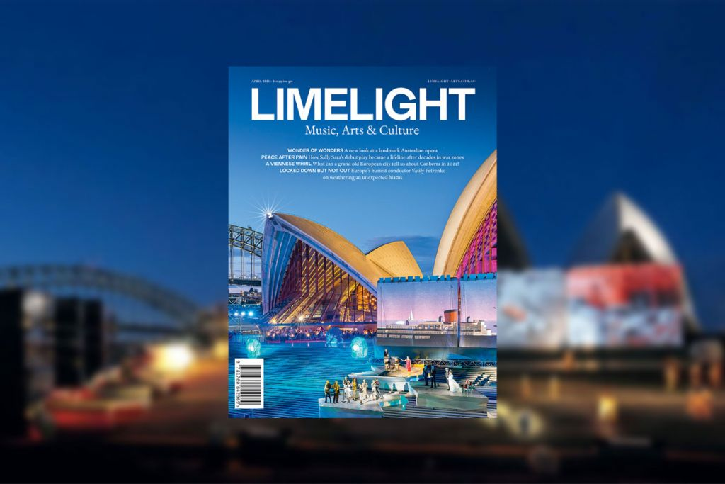 The cover of Limelight's April 2021 magazine
