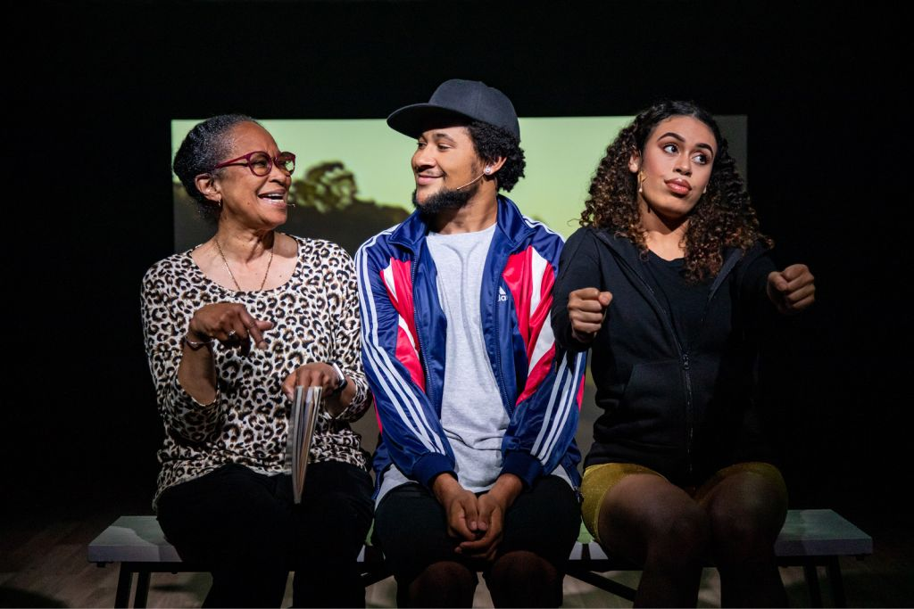 Deni Gordon, Coby Njoroge and Chaska Halliday in Hayes Theatre Co'sHalf Time