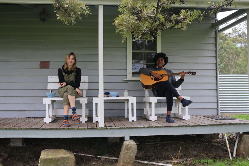 Julia Robertson and Chika Ikogwe in residence at Bundnaon Photo by Julie Ryan