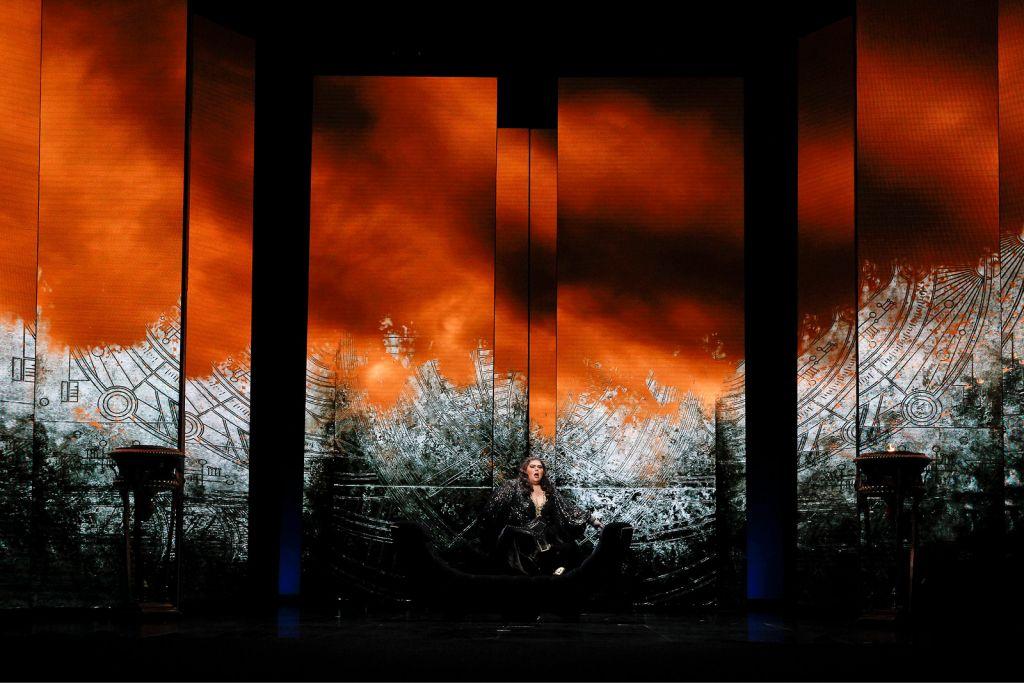 Leah Crocetto as Aida in Opera Australia's 2021 production of Aida at Arts Centre Melbourne.