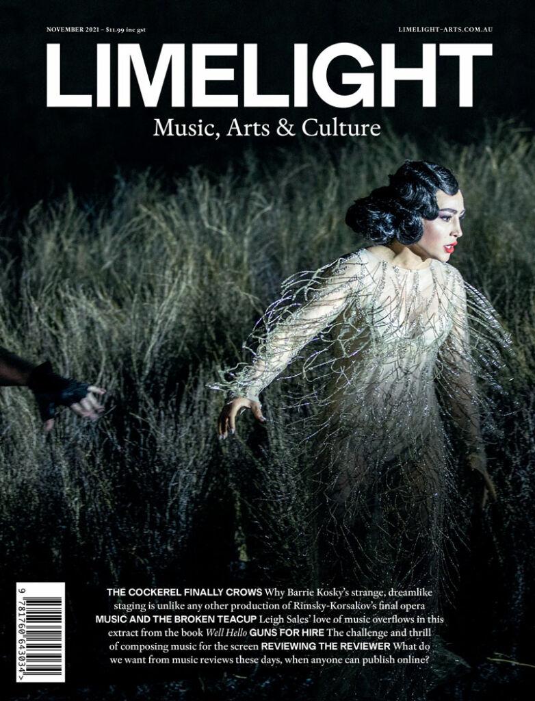 Cover of Limelight's November 2021 magazine